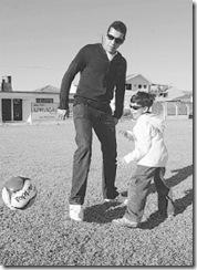 André Santos e o sobrinho Gabriel